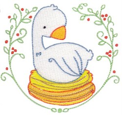 On The Sixth Day Of Christmas embroidery design