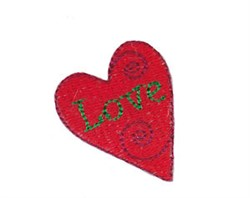 Christmas Mini Love Heart embroidery design