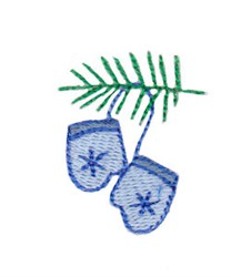 Christmas Mini Mittens embroidery design
