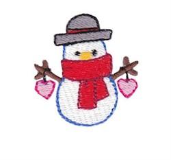 Christmas Mini Snowman embroidery design