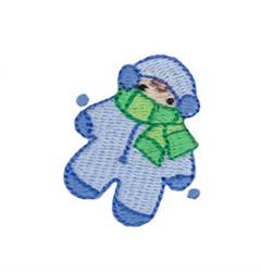 Christmas Mini Winter Kid embroidery design