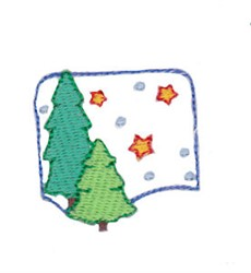 Christmas Mini Tree Scene embroidery design