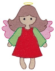 Christmas Melody Angel embroidery design