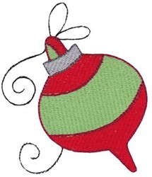 Christmas Melody Ornament embroidery design