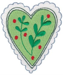 Christmas Melody Heart embroidery design