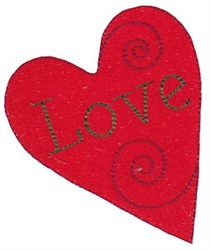 Christmas Melody Love Heart embroidery design