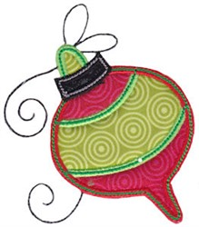 Christmas Melody Ornament Applique embroidery design