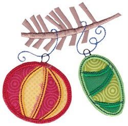 Christmas Melody Ornaments Applique embroidery design