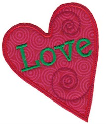 Christmas Melody love Heart Applique embroidery design