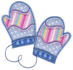 Christmas Melody Mittens Applique embroidery design