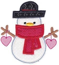 Christmas Melody Snowman Applique embroidery design