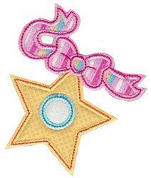 Christmas Melody Star Applique embroidery design