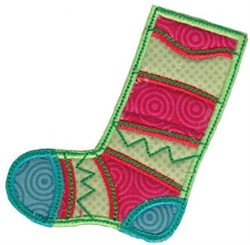Christmas Melody Stocking Applique embroidery design