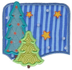 Christmas Melody Scene Applique embroidery design