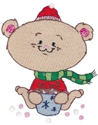 Winter Critter Bear embroidery design