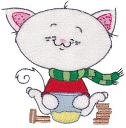 Winter Critter Kitty embroidery design