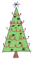 Winter Critter Christmas Tree embroidery design