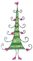 Winter Critter Tree embroidery design