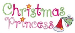 Christmas Princess embroidery design