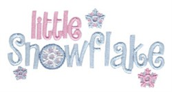 Little Snowflake embroidery design