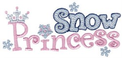Snow Princess embroidery design