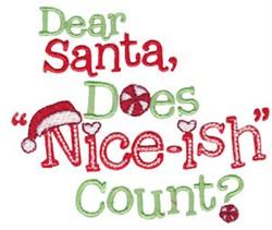 Dear Santa embroidery design