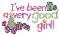 Good Girl Christmas embroidery design