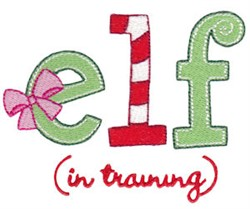 Elf In Training embroidery design