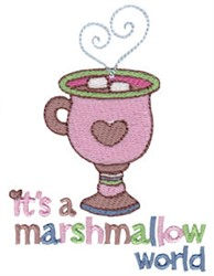 Its A Marshmallow World embroidery design