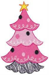 Girly Christmas Tree embroidery design