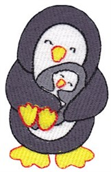 Penguin Fun embroidery design