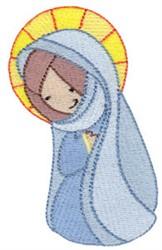 Cute Nativity Mary embroidery design