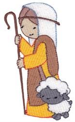 Cute Nativity Shepherd embroidery design