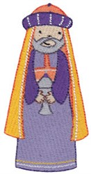 Cute Nativity King embroidery design