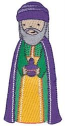 Cute Nativity Magi embroidery design