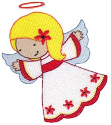 Cute Nativity Angel embroidery design