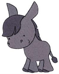 Cute Nativity Donkey embroidery design