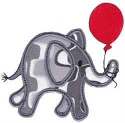 Little Elephant Balloon Applique embroidery design
