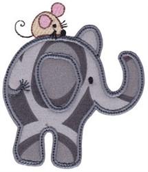 Little Elephant & Mouse Applique embroidery design