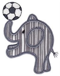 Little Elephant Soccer Applique embroidery design