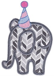 Little Party Elephant Applique embroidery design