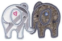 Little Elephants Applique embroidery design