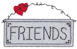 Friends Sign embroidery design
