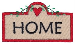 Prim Sampler Home Sign embroidery design