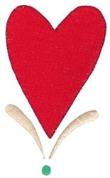 Prim Sampler Heart embroidery design