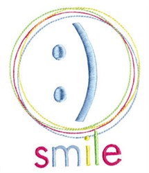 Techy Sentiment Smile embroidery design