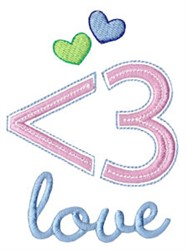 Techy Sentiment Love embroidery design
