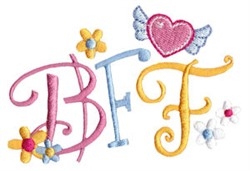 Techy Sentiment BFF embroidery design