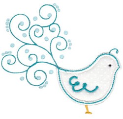 Tweet Thing Applique embroidery design