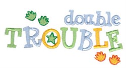 Double Trouble Twin Time embroidery design